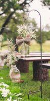 Pronájem zápichů na svatební dekorace